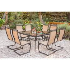 Patio Spring Chair by Monaco 9 Piece Dining Set With Eight C Spring Chairs And A Large
