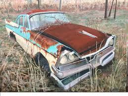saatchi art artist mary jane houston painting rusty dodge art