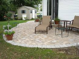Slope For Paver Patio by Concrete Paver Patio Designs Installation Cost Great Ideas