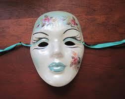 ceramic mardi gras masks for sale vintage mardi gras masks etsy