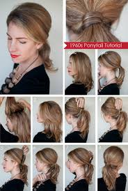 ponytail hairstyles for short step by