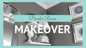 home decor powder room makeover youtube