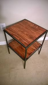 rebar and pallet wood side table diy and crafts pinterest