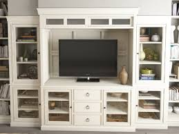 White Wooden Computer Desk Wall Units Amazing Entertainment Center With Desk Extraordinary