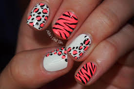 animal print nail art design ideas easy nail art