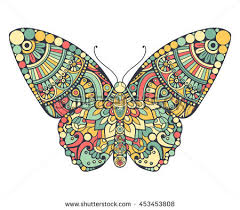 butterfly vintage decorative elements mandalas stock