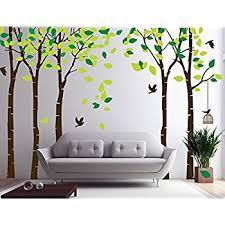 n sunforest 8ft white birch tree vinyl wall decals