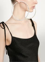 loop earrings rhinestone hoop earrings area