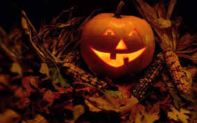halloween 4k wallpaper funny halloween pumpkin and corn hd wallpaper