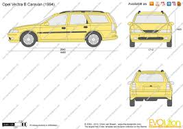 opel vectra b 1996 the blueprints com vector drawing opel vectra b caravan