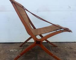 leather sling chair etsy