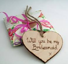 will you be my bridesmaid bridesmaid invite wooden be