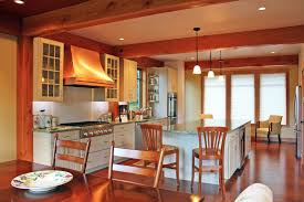 Kitchen Island Post Kitchen Layout Ideas For Post And Beam Homes Timberpeg Timber