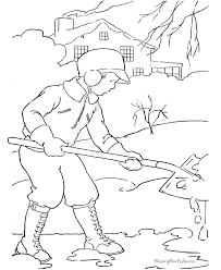 winter coloring sheets pictures