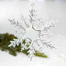clear snowflake ornament ornaments