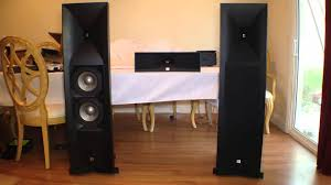 jbl studio 590bk speakers review youtube