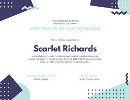 white geometric design participation certificate templates by canva