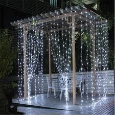 White Christmas Lights Wedding Decorations by Curtain Christmas Lights Decorate The House With Beautiful Curtains