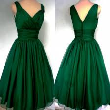 2015 fashion emerald green 1950s cocktail dress vintage knee
