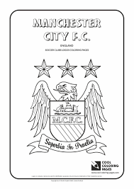cool coloring pages soccer clubs logos manchester city f c
