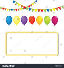 Green White And Yellow Flag Colorful Vector Balloons Set Celebrate Flags Stock Vector