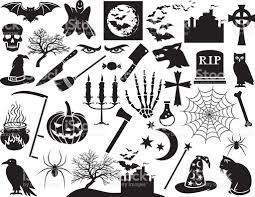free halloween vector art halloween icons set stock vector art 619743114 istock
