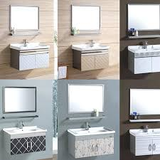 Stainless Steel Bathroom Vanity Cabinet Bathroom Wall Vanity Cabinets Stainless Steel Bathroom Vanity