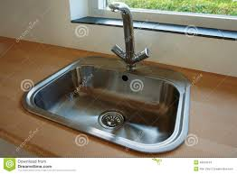 Kitchen Tap Faucet Details Of Modern Kitchen Sink With Tap Faucet Stock Photo Image