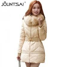 Womens Winter Coats Plus Size Buy Jolintsai Winter Jacket Women Big Fur Hooded Parka Thick