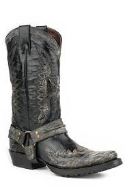 men s motorcycle boots stetson men s outlaw biker eagle black harness boot