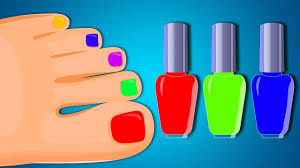 nail polish colors paint to mummy finger family videos for kids