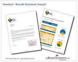 standard format employee benefit statements employee benefit