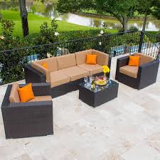 Faux Wicker Patio Furniture - amazon com lakeview outdoor designs avery island 5 person resin
