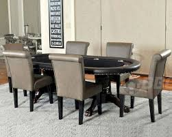 Poker Dining Room Table Pedestal Poker Table Set With Premium Chairs Pt 77051p