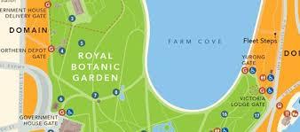 Royal Botanical Gardens Melbourne Map Map The Royal Botanic Garden Sydney