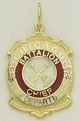 1003 13 chicago department badge battalion chiefchicago