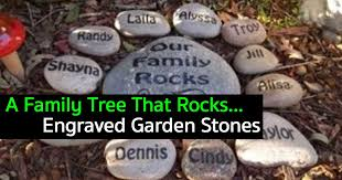 Engraved Garden Rocks How To A Family Tree That Rocks With Engraved Garden Stones