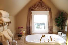 curtains for bathroom windows ideas white polished window using white cafe curtain combined with blue