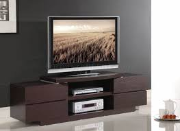 Modern Tv Stand Furniture by Wenge Finish Modern Tv Stand W Open Shelves