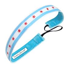 Blue White Red White Blue Flag Chicago Headband Sweaty Bands