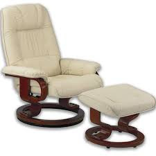 siege massant chauffant fauteuil massant avec pouf en cuir pied pivotant de techniform