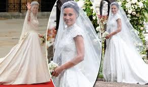 wedding dress images pippa middleton wedding dress compared to kate middleton wedding