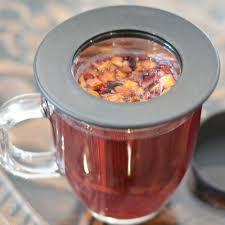 aspen tea strainer cup with stainless steel tea infuser grosche