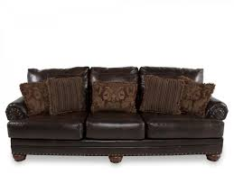 Ashley Millenium Bedroom Furniture by Ashley Leather Antique Sofa Millennium Mathis Brothers