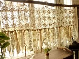 Hippie Drapes Vintage Hippie Valance Boho Handmade Crochet Curtain Window Rag
