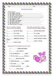 demonstrative pronouns exercises 3