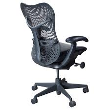 Herman Miller Leather Chair Herman Miller Mirra Used Leather Seat Task Chair Black National