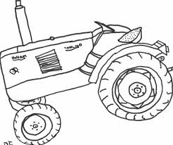 tractor coloring sheet coloring pages kids