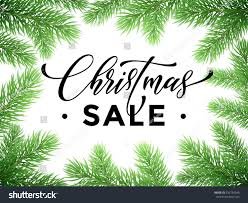 promotion discount sale poster christmas tree stock vector
