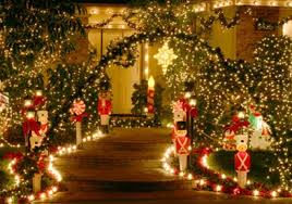 Christmas Decorations Ideas Outdoor Popular Of Christmas Garden Decor Home Decorating Ideas With Lucia